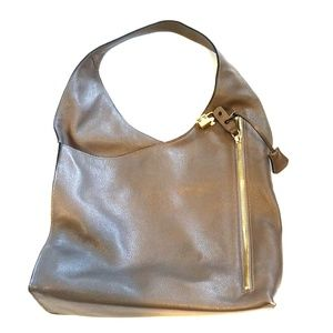 INZI taupe leather bag
